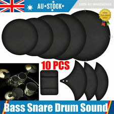 10pcs Bass Snare Drums Mute Silencer Drumming Practice Pad Set Cymbal SoundOff a