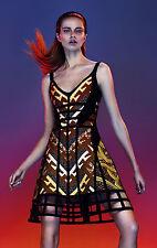 An Authentic Herve Leger Amella Tribal  Flare Dress Size Medium