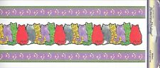 """LEISURE ARTS Memories in the Making Border Cats Sticker Sheet 5""""x12"""" Kitty Cat"""