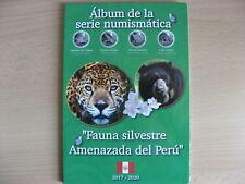 PERU 2017 2020 ALBUM Fauna silveste Amenazada del Peru 10 x 1 sol NEW #18