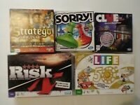 Lot of 5 Games LIFE 50TH ANNIVERSARY, Risk, Clue, Stratego, Sorry