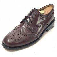 HITCHCOCK Men's 10 Extra Wide Oxford Wingtip Shoes Brogue Medallion Derby Lace
