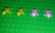 LEGO X4 Friends sea animal turtle (2 lavender and 2 lime color)