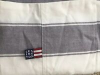 LEXINGTON PIN POINT OXFORD BLUE WHITE STRIPE COLLECTION STANDARD PILLOWCASE