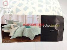 Echo Design Home Mykonos 100% Cotton KING Duvet Cover & Shams Sky
