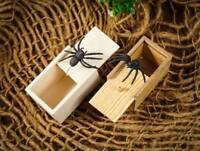 Funny Prank Spider Wooden Scare Box Joke Gag Toy Kids Adult Hidden in Case Trick