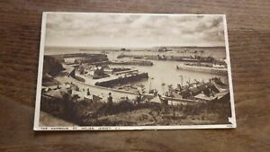 OLD POSTCARD, 1940s VIEW OF ST HELIER HARBOUR JERSEY