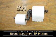 DIY Industrial Pipe Bathroom toilet paper Holder urban steampunk rustic decor