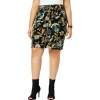 INC Women's Plus Floral Front Zipper Knee Length A Line Skirt Size 22W MSRP $79