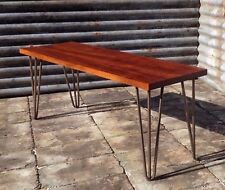 Reclaimed Hardwood Bench On Hairpin Legs
