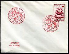 enveloppe philatélique . la Croix-Rouge et la Poste .Marseille . 1960