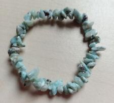 Bracelet baroque en pierres naturelles LARIMAR