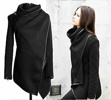 New Women Trench Slim Collar Winter Waterfall Coat Long Wool Jacket Outwear Top