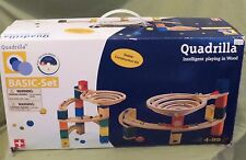 QUADRILLA~INTELLIGENT PLAYING IN WOOD~BASIC SET+~100+ items~ MARBLE MAZE ~ HaPe