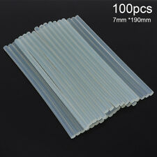 100pcs/set 7mmx190mm Transparent Hot-melt Gun Glue Sticks Adhesive DIY Tools
