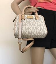 NWT Michael Kors Vanilla Mini Satchel PVC Bag Crossbody MK Signature Purse