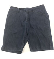 Lee Womens Blue Jean Shorts Size 10M Just Below the Waist Bermuda Denim Stretch