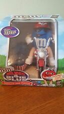M&M'S LIMITED EDITION *RED WHITE & BLUE* MOTORCYCLE CANDY DISPENSER. NIB