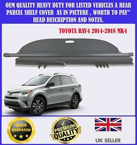 FOR TOYOTA RAV4 RAV 4 MK4 2014-2018 CARGO PARCEL SHELF LOAD COVER BLIND BLACK