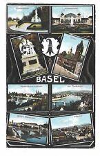 BASEL SWITZERLAND multi-view postcard  Circa 1912