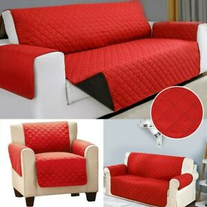 1/2/3 Seater Premium Sofa Cover Red Sheet Home Room Thick Slipcover Protector UK