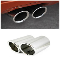 For Audi Q3 2012 - 2017 Stainless Rear Exhaust Muffler Tail Tip End Pipe 2pcs
