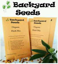 ORGANIC Herb Seeds, 7 packets: oregano, basil, coriander, chives, parsley & more