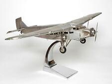 Modelo de avión Ford Trimotor llena de metal metal avión modelo hélice enorme