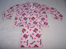 Betty Boop Girls Light Pink Printed Flannel Pyjama Set Size 8 New
