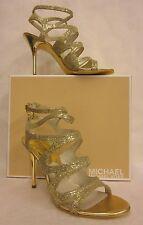 Michael Kors Yvonne Ankle Strap Gold Sandal - Size 9