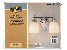 Hampton Bay Solomone 2-Light Polished Chrome Vanity Light New Lower Price!