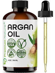 Argan Oil Organic, Virgin, 100% Pure, Cold Pressed Argon Oil Serum For Hair