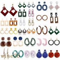 Acrylic Geometric Pendant Dangle Drop Fashion Women Statement Earrings Jewelry