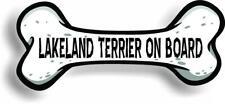 "Dog on Board Lakeland Terrier Bone Car Magnet Bumper Sticker 3""x7"""