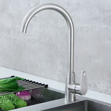 Kitchen Sink Mixer Taps Swivel Spout Single Lever Tap Mono Modern Chrome Faucet