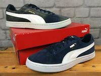 PUMA MENS UK 8 EUR 42 COURT STAR NAVY BLUE WHITE GOLD SUEDE TRAINERS LD
