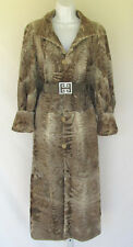VINTAGE 1960s 70s KOSEFF JOHANNESBURG PERSIAN BROADTAIL LAMB COAT LEATHER BELT