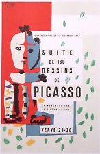 "Pablo PICASSO MONTATO Mourlot Lithograph 1959 affiches Originales 14 X 11 ""ao72"