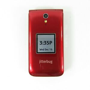 GreatCall Jitterbug Flip Easy-to-Use Cell Phone - Red