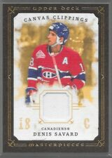 08/09 Masterpieces Canvas Clippings Jersey Denis Savard CC-SA2 Canadiens