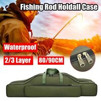 Fishing Rod Tackle Holdall Bag For 2/3 Layer Green Made Up Rods & Reel