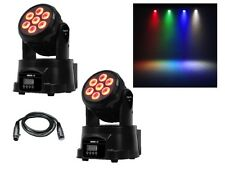 2 x Equinox Fusion 50 MKII LED Wash In movimento Testa DJ discoteca effetto luce RGBW