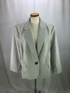 Le Suit Women's Seersucker Blazer Jacket 22W NWT