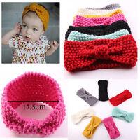 Babys Winter Warmer Headwrap Xmas Gift Girls Crochet Headband Knit Bow Hairbands
