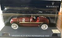"DIE CAST "" MASERATI 8CTF BOYLE INDYANAPOLIS 1939"" MASERATI COLLECTION SCALA 1/43"