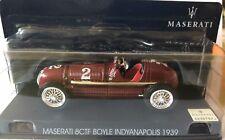 "DIE CAST "" MASERATI 8CTF BOYLE INDYANAPOLIS 1939"" MASERATI COLLECTION SCALA 1/43"