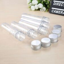 5Pcs 40ML Plastic Makeup Empty Test Tubes Metal Screw Cap Length Approx 135mm