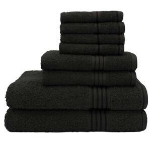 Hurbane Home Luxury 600 GSM 100% Cotton Bath Hand Face Bathroom Towel 8 Piece