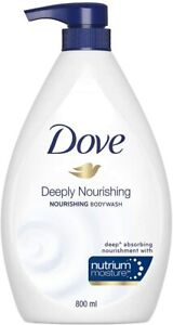 Dove Deeply Nourishing Body Wash Body Bath Shower Gels 800ml