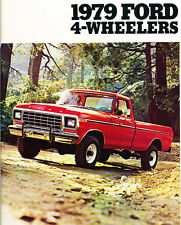 1979 Ford 4wd Trucks 8-page Original Car Sales Brochure Catalog - F-150 Bronco
